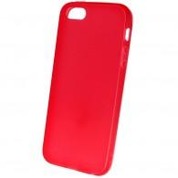 Чехол для iPhone 5 силиконовый красный Mate