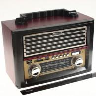 Радиоприемник MD-1705BTch (USB /SD/FM/дисплей/пульт) красный