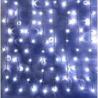 Эл. штора уличная 925 LED 2,4*3м белая, прозр.шнур (OLDCL925-TWW-E-F)