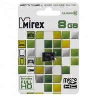 Карта памяти microSDHC Mirex 8GB Class 10 без адаптера