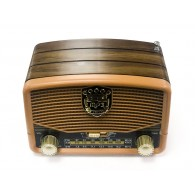 Радиоприемник М-139ВТ (Bluetooth/USB/microSD/Fm/AUX/акб) корич Meier