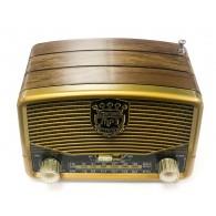 Радиоприемник М-139ВТ (Bluetooth/USB/microSD/Fm/AUX/акб) золото Meier