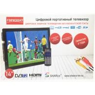 """Портативный телевизор Горизонт 14"""" D14 (DVB-T2)"""