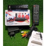 Ресивер цифровой DVB-T2 Горизонт 130W (HDMI, RCA, пластик, дисплей)