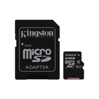 Карта памяти microSDHC Kingston 64Gb Class 10 CanvasSelect UHS-l с адапт