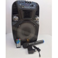 Колонка портативная CH-8-1Wch черная (Fm, USB, microSD, LED, микрофон)