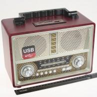 Радиоприемник MD-1802 (USB /SD/microSD/FM/220V/4*R20) серебро