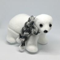 Медвежонок белый маленький в шарфе