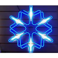 """Новогодняя фигура """"Снежинка"""" неоновая 50х50см разноцв."""