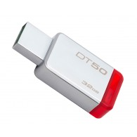 Флэш-диск Kingston 32 GB USB 3.0 Data Traveler 50 красный металл
