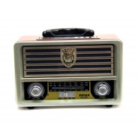 Радиоприемник M-113 (Bluetooth/USB /SD/microSD/FM) серебро