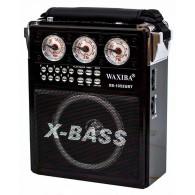 Радиоприемник XB-1052URT\ch (USB/SD/FM/фонарь) черный