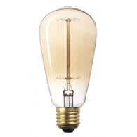 Лампа накаливания Jazzway RETRO ST64 40W Е-27 Gold
