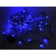 Эл. гирлянда 200 светод.синий, 20м, зел.шнур, 8 реж. (ILD 200C-GB)