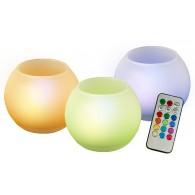 Светильник-свеча Jazzway TG-RGB-SET3/GL (комплект 3 свечи)