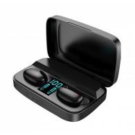 Гарнитура Bluetooth TWS Earbuds A10S+PowerBank черная (вакуумные наушники)