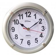 Часы настенные малые круглые серебро (1АА)