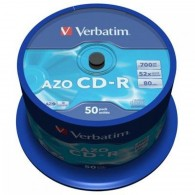 Verbatim CD-R 700Mb 52x DL+ Cristal Cake box /50