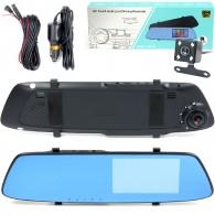Видеорегистратор Mega L1001М (зеркало,2 камеры,120\90°,microSD до 32Gb)
