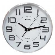 Часы настенные круглые белый циферблат, метал.цифры