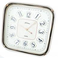 Часы настенные квадратные бежевые 7688 (1АА)