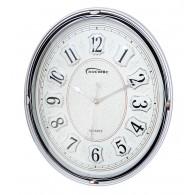 Часы настенные овальные серебро 7690 (1АА)