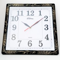 Часы настенные квадратные черные 508 (1АА)