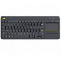 Клавиатура Logitech K400 PlusTV USB беспроводная черная